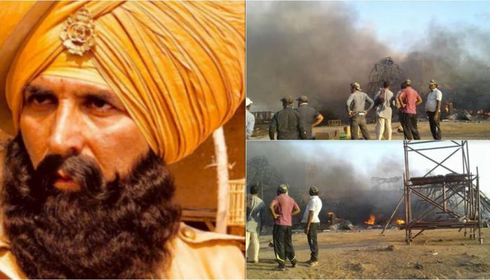 अक्षय कुमार की फिल्म 'केसरी' के सेट पर लगी आग, क्लाइमैक्स हो रहा था शूट