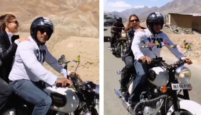 VIRAL VIDEO: कश्मीरी वादियों में सलमान खान के साथ बाइक पर घूम रही हैं जैकलीन फर्नांडीज