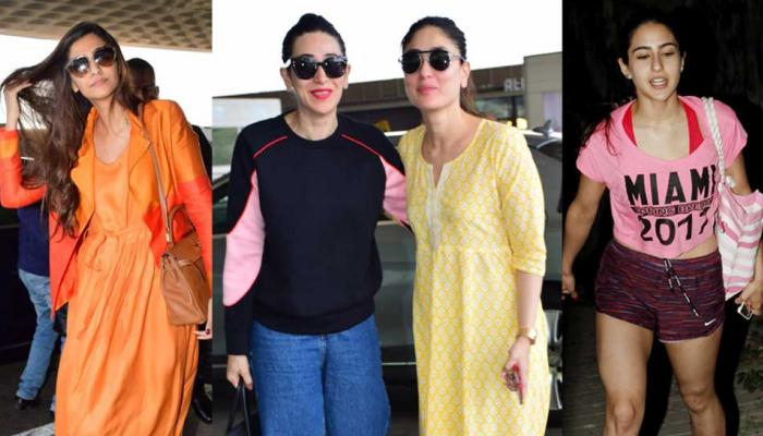 Sonam kareena Karishma Kapoor Spoted at Airport