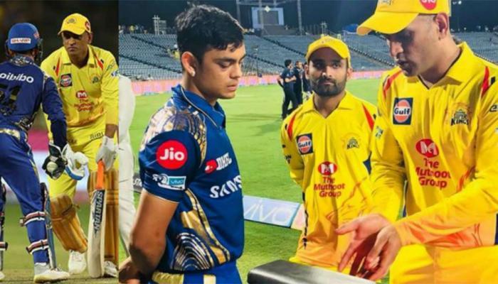 IPL 2018 : धोनी ने ईशान किशन को दिए विकेटकीपिंग के टिप्स, फोटो वायरल