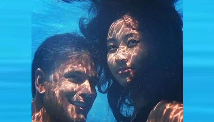 milind soman and ankita shared underwater photoshoot pics, going viral