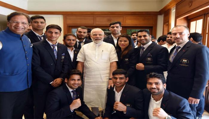 Prime Minister Narendra Modi Meets CWG 2018 Medallists