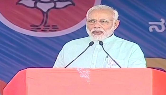 कर्नाटक में पीएम मोदी ने दी राहुल को चुनौती, कहा-'बिना कागज 15 मिनट बोलकर दिखाएं'