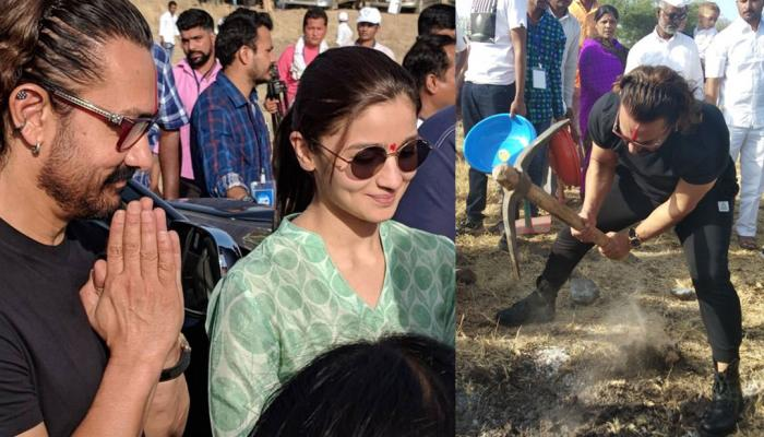 aamir khan and alia bhatt joined hands for paani foundation, watch photos labor day maharashtra day