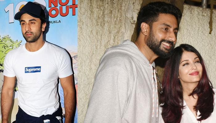 ranbir kapoor, abhishek bachchan and aishwarya rai attended special screening of 102 not out