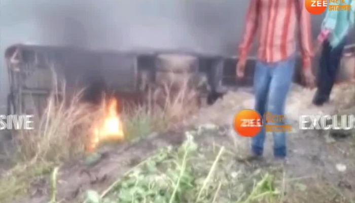 Bihar: Fire in bus in Motihari, 12 people died