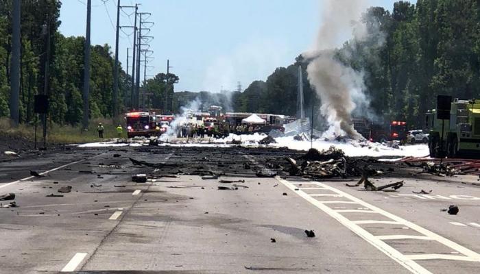 जॉर्जिया में अमेरिकी सैन्य विमान दुर्घटनाग्रस्त, सभी 9 लोगों की मौत
