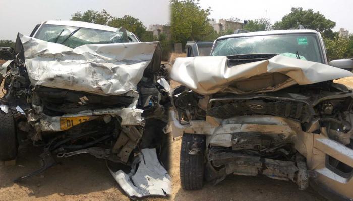 आमने-सामने से भिड़ी स्कॉर्पियो और कार, दो की मौत, महिला पायलट की हालत नाजुक
