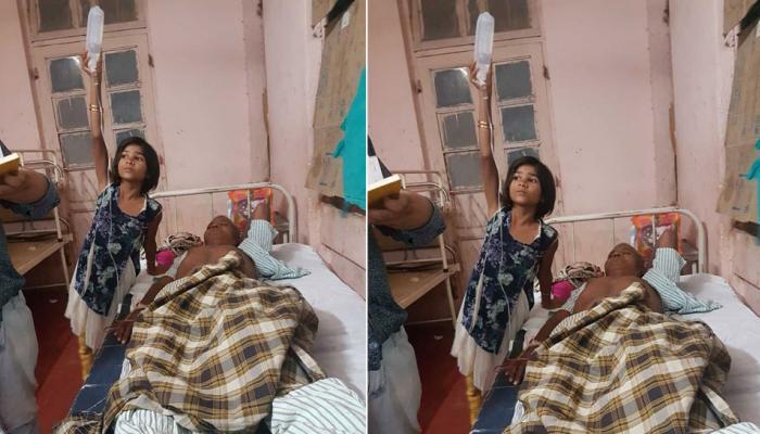 औरंगाबाद: सरकारी अस्पताल का हाल, स्टैंड की जगह बच्ची को ही पकड़ा दी ग्लूकोज की बोतल