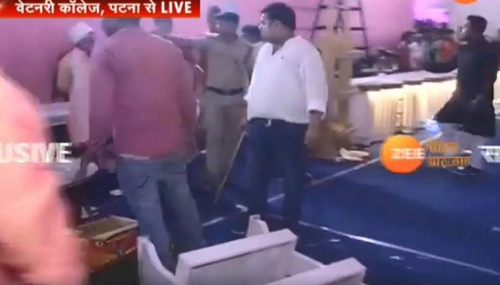 Video : तेज प्रताप की शादी में मची अफरा-तफरी, भीड़ ने लूटा खाने का सामान