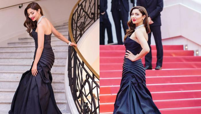 cannes 2018 see mahira khan glamours look in black gown on red carpet
