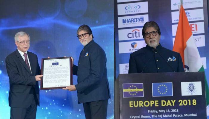 अमिताभ बच्चन को मिला सम्मान, भारत और यूरोप के बीच जोड़े मजबूत तार