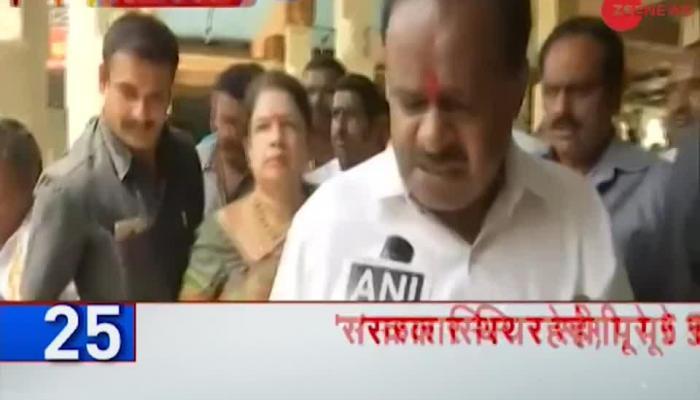 HD Kumaraswamy visits temples before taking oath as Karnataka Chief Minister