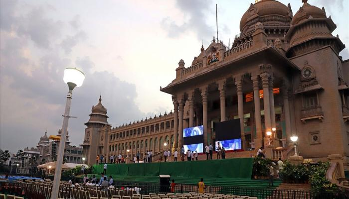 HD Kumaraswamy oath as Chief Minister of Karnataka today celebrations in Bengaluru