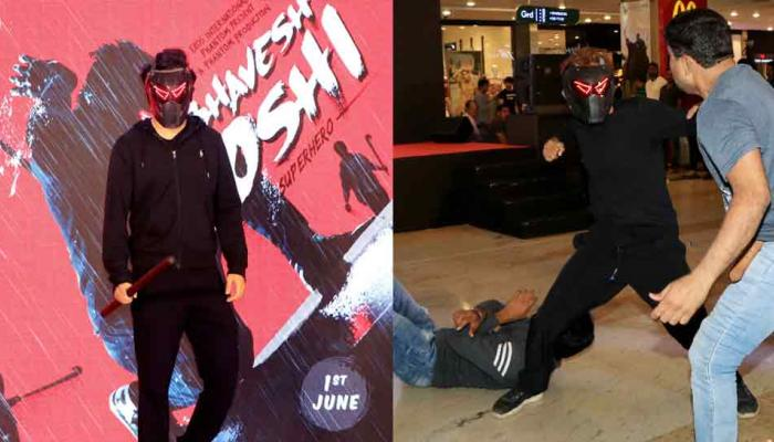 harshvardhan kapoor is promoting his movie bhavesh johsi superhero, set to release on 1st june