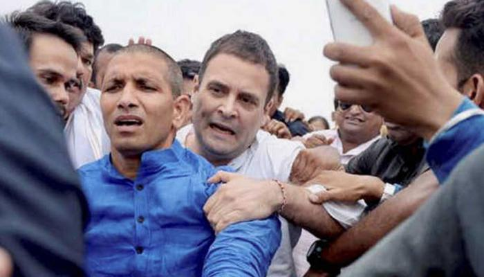 when rahul gandhi arrested by police before meeting farmers one year of mandsaur golikand Madhya Pradesh