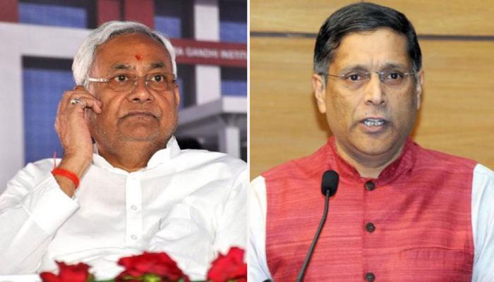 बिहार : 'विशेष राज्य' के दर्जे पर छिड़ी बहस के बीच नीतीश कुमार से मिलेंगे अरविंद सुब्रमण्यन