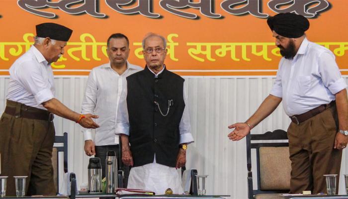 RSS के कार्यक्रम में बोले प्रणब मुखर्जी, 'गांधी जी ने कहा था राष्ट्रवाद हिंसक और विध्वंसक नहीं होना चाहिए'
