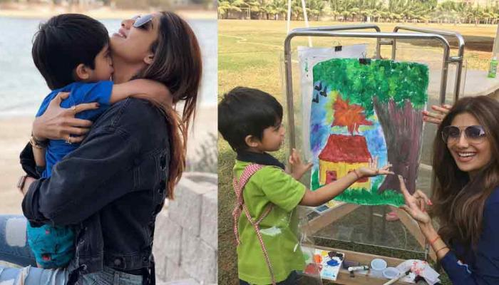 birthday special see in pics the bond of shilpa shetty with his son vihaan