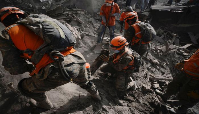 Guatemala Fuego Volcano Blas : 17 Lakhs People influenced