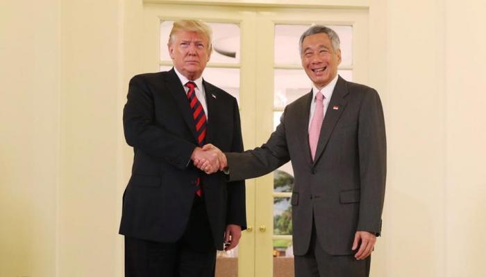 सिंगापुर के पीएम से मिले डोनाल्ड ट्रंप, 12 जून को होनी है किम जोंग से बात