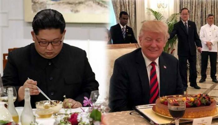 सिंगापुर पहुंचकर किम जोंग उन ने खाया खीरा, डोनाल्ड ट्रंप ने कहा- 'अच्छी तस्वीर खींच लो'