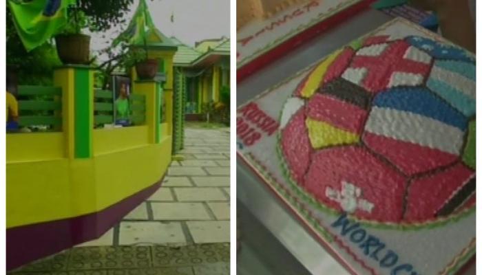 भारत में चढ़ा फीफा वर्ल्ड कप का खुमार, किसी ने बनाया केक तो किसी ने कराया घर को पेंट
