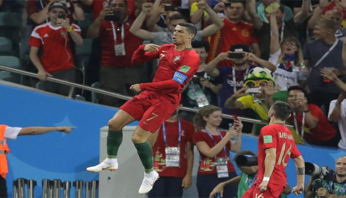 Cristiano Ronaldo racks up records at FIFA World Cup after hat-trick against Spain