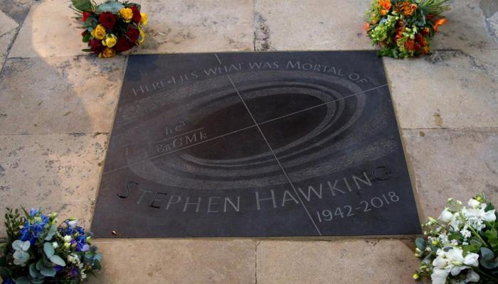 न्यूटन, चार्ल्स डार्विन की कब्र के बगल में दफनाई गई स्टीफन हॉकिंग की अस्थियां