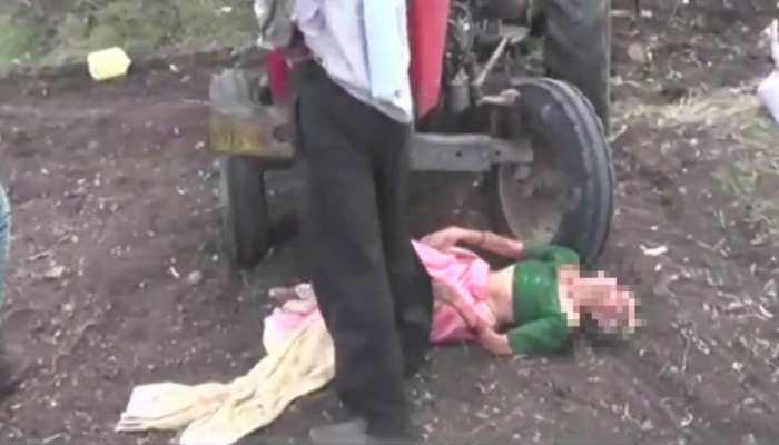 प्रॉपर्टी के लिए मां पर अत्याचार, कलयुगी बेटे ने बुजुर्ग मां को खेत में ट्रैक्टर के आगे फेंका