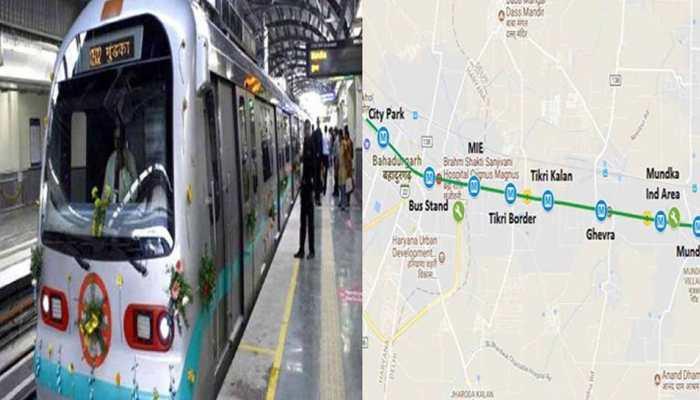 दिल्ली से हरियाणा की दूरी होगी कम, आज से ग्रीन लाइन पर मुंडका-बहादुरगढ़ के बीच शुरू होगी मेट्रो सेवा