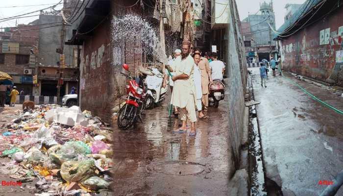 स्वच्छ भारत मिशन से फैली जागरुकता, 1 हफ्ते में साफ हो गईं दिल्ली की ये गलियां