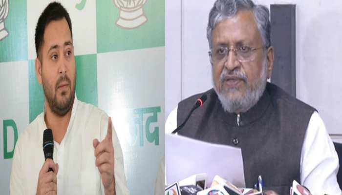 सुशील मोदी ने फिर लगाया बड़ा आरोप, तेजस्वी ने कहा 'मर्द हो तो और जांच करवाओ'