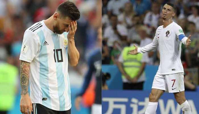 FIFA 2018: मेसी और रोनाल्डो की टीमों का सफर थमा, क्वार्टर फाइनल में उरुग्वे