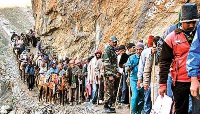 जम्मू-कश्मीर : अमरनाथ यात्रा में बालटाल के नजदीक भूस्खलन में 5 लोगों की मौत, 3 घायल