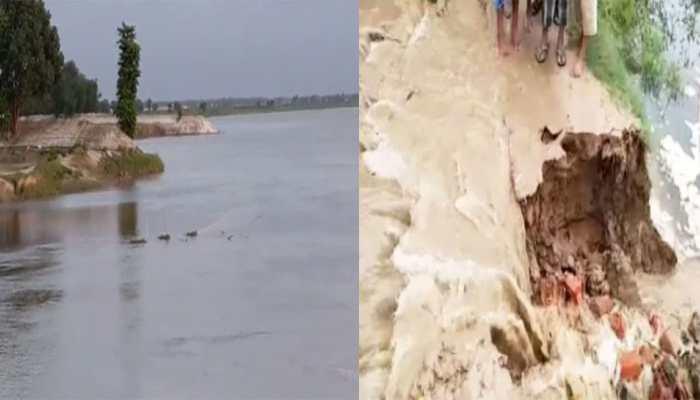 बिहार में कई स्थानों पर उफान पर है नदियां, लोगों में बढ़ रहा है बाढ़ का दहशत
