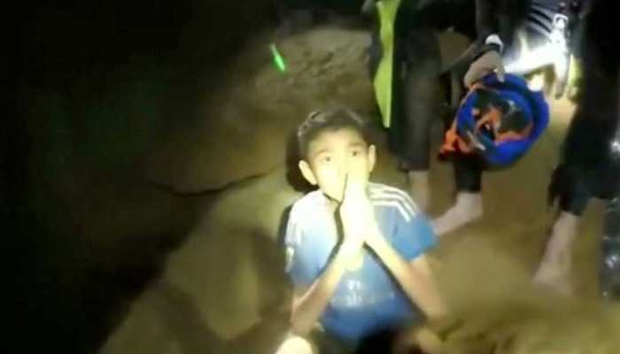 Boys from the under-16 soccer team trapped inside Tham Luang in Thailand
