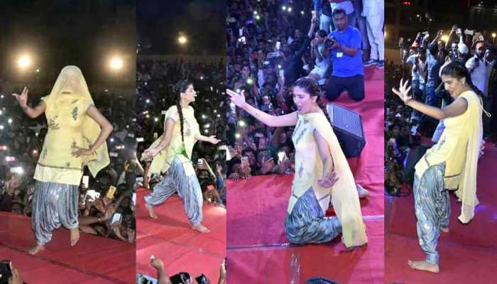 Dancer Sapna Choudhary Perform at Jodhpur in uncontrollable crowd