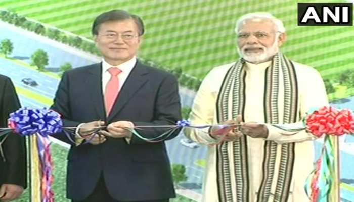 PM Modi inaugurated Samsung's largest mobile plant in noida