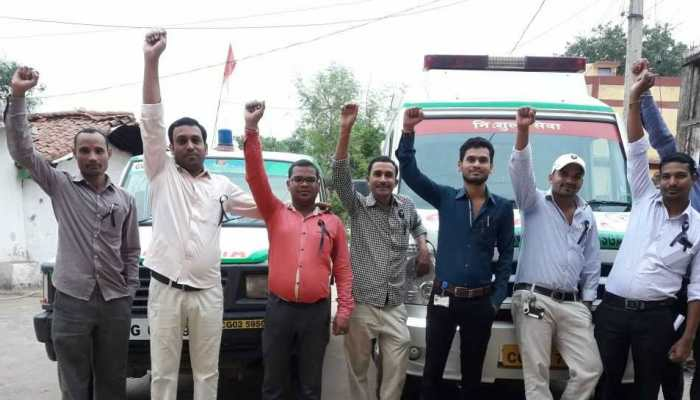 108 Ambulence Workers Protest Against Chhattisgarh Government
