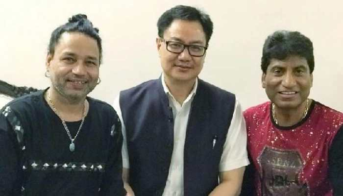 "Kailash Kher and Raju Srivastav the ""two gems"" of the entertainment industry: Kiren Rijiju"