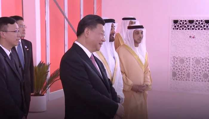 Abu dhabi crown prince gifted chinese president Xi jinping a Arabian horse