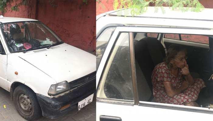 अजमेर: बीमार मां के लिए संघर्ष कर रही है बेटी, गाड़ी को बनाया आशियाना