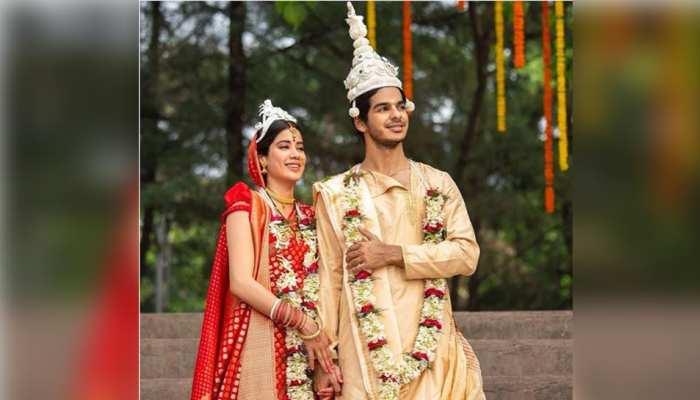 करण जौहर ने दिखाया बंगाली दुल्हा-दुल्हन अवतार में जाह्नवी कपूर और ईशान खट्टर का नया अवतार