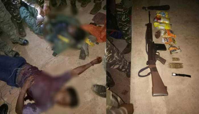 दुमका: एनकाउंटर में दो नक्सली हुए ढेर, भारी मात्रा में हथियार बरामद