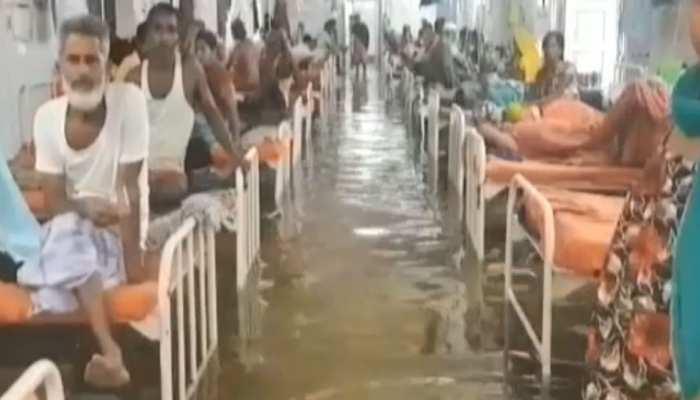 तालाब बना पटना NMCH अस्पताल, आईसीयू वार्ड में घुटनों तक पानी, देखें तस्वीर