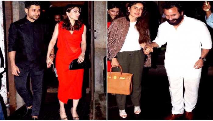kareena kapoor and saif ali khan Spotted on dinner date with soha ali khan and kunal khemu Bollywood