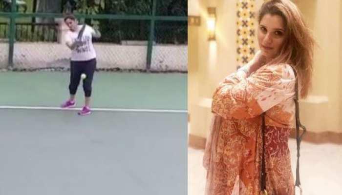 VIDEO: बेबी बंप के साथ टेनिस खेलती नजर आईं सानिया मिर्जा, टेनिस के लिए कुछ यूं जताया प्यार