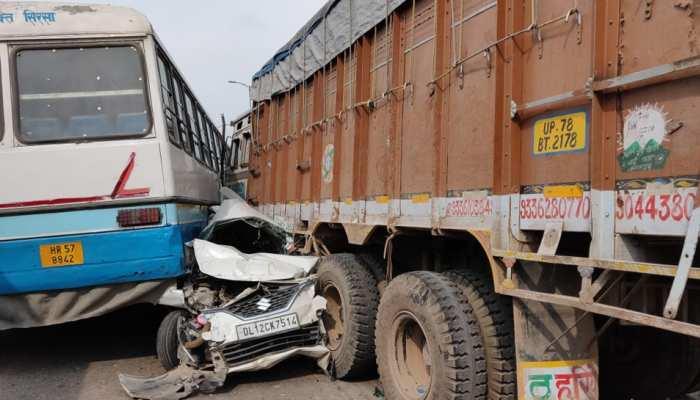 लापरवाही: दिल्ली के आउटर रिंग रोड पर बेकाबू ट्रक ने कई वाहनों को रौंदा, कई लोग घायल
