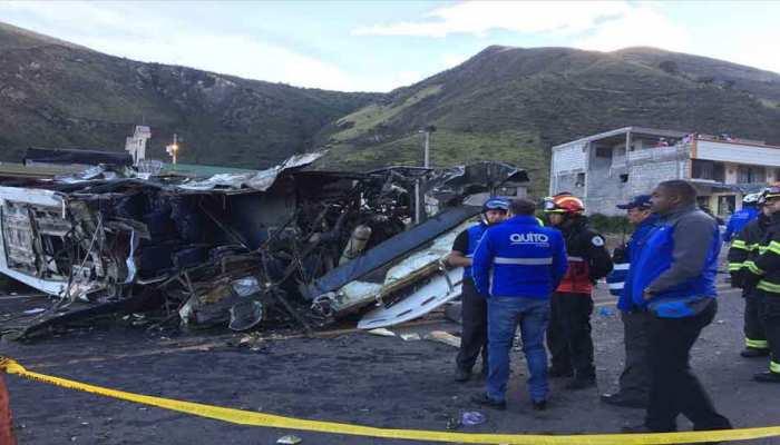 इक्वाडोर बस दुर्घटना में 19 कोलंबियाई नागरिकों की भी हुई मौत
